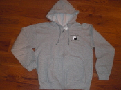 C.V.C. Zippered Gray Hoodies w/logo - sizes S-XXL